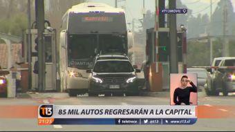 [VIDEO] Operación Retorno: 85 mil autos regresarán a la capital