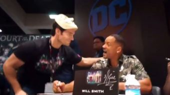 Actor de Superman se roba las miradas al infiltrarse en la Comic-Con y sorprender a Will Smith