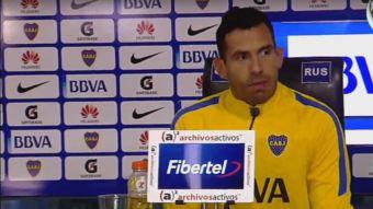 [VIDEO] ¿Deja el fútbol? La broma de Carlos Tévez en conferencia de prensa