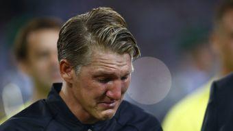 [VIDEO] La emoción de Schweinsteiger en su adiós de la selección de Alemania