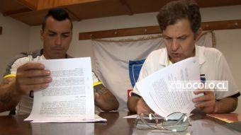 [VIDEO] Así fue el momento de la firma de renovación de Esteban Paredes por Colo Colo