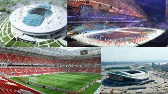 Los modernos estadios que acogerán a Chile en la Copa Confederaciones de Rusia