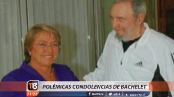 [VIDEO] Las polémicas condolencias de la presidenta tras la muerte de Castro