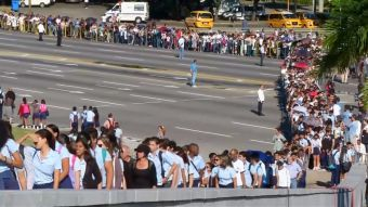 T13 en La Habana: así se vivió el primer día de homenaje a Fidel Castro
