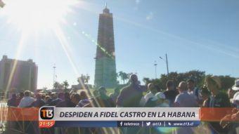 [VIDEO] La última despedida a Fidel Castro en La Habana
