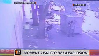 [VIDEO] El momento exacto de la explosión en el centro de Santiago