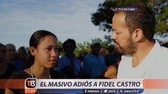 [VIDEO] T13 en el masivo adiós a Fidel Castro
