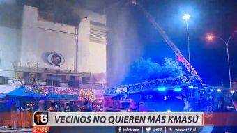 [VIDEO] Vecinos de discotheque Kmasú temen derrumbes tras sinietro que afectó al local