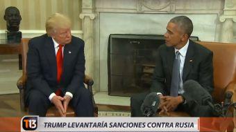 [VIDEO] Donald Trump anuncia que podría levantar las sanciones a Rusia