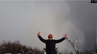 Excursionistas en valancha Torres del Paine