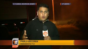 Incendio forestal: Despacho desde comuna de Florida, región del Biobío