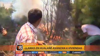 [VIDEO] Región del Maule: llamas se acercan a viviendas de Licantén