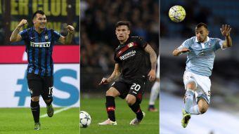 Conoce toda la agenda de los futbolistas chilenos en las principales ligas del mundo