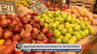 [VIDEO] Estudio detecta que familias chilenas gastan casi lo mismo en frutas que en golosinas