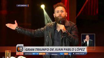 [VIDEO] El gran triunfo del debutante Juan Pablo López en el humor de Viña 2017