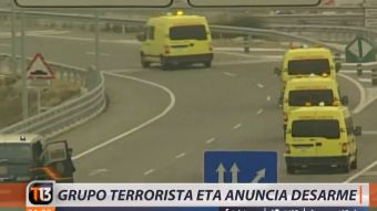 [VIDEO] Grupo terrorista ETA anuncia su desarme