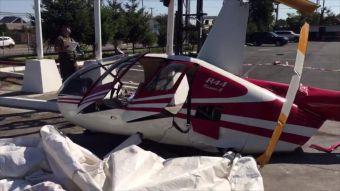 [VIDEO] La sorprendente caída de un helicóptero que recién comenzaba su despegue en Chillán