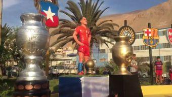 [VIDEO] Así fue la inauguración de la estatua en honor a Alexis Sánchez en Tocopilla