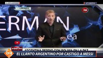 [VIDEO] El llanto argentino por la derrota en La Paz y el castigo a Messi