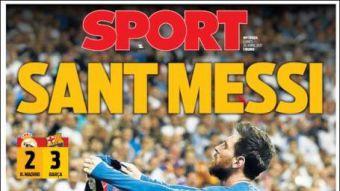 [FOTOS] La prensa española se rinde ante San Messi y sus golazos en el Clásico