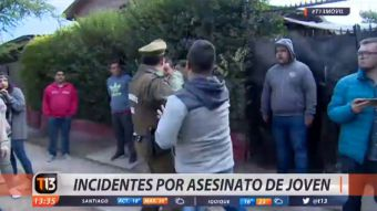 [VIDEO] Asesinato de joven taxista produce incidentes en Lo Prado