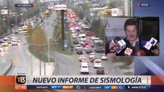 El sismólogo Mario Pardo informó que hasta las 7:15 iban 134 réplicas del sismo 6,9 Richter del lunes. Además se refiere a las diferencias entre un sismo y un terremoto.
