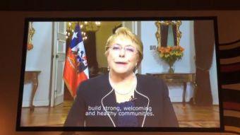 [VIDEO] Bachelet y su mensaje de apoyo a candidatura de Santiago para ser sede de Panamericanos