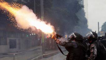 [FOTOS] Protestas y disturbios en día de huelga general en Brasil