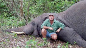 Famoso cazador sudafricano muere aplastado por elefante luego de disparar a sus crías