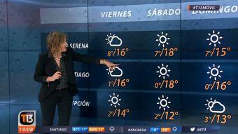 [VIDEO] El informe del tiempo con Michelle Adam: Se vienen temperaturas bajo los cero grados