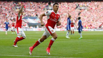 Alexis campeón: anota y es figura en triunfo de Arsenal sobre Chelsea para ganar la Copa FA