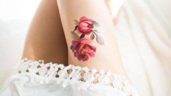 Tatuajes de acuarela la obra  de arte de artista rusa