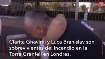 [VIDEO] El emotivo encuentro entre una mujer y el vecino que la salvó del incendio en Londres