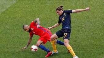 [VIDEO] Arturo Vidal de cabeza a semifinales de Copa Confederaciones