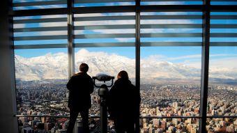 Nieve en Santiago