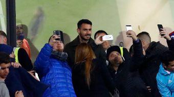 [FOTOS] Mauricio Pinilla asiste al estadio para ver a la U en Copa Chile