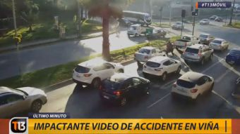 [VIDEO] El impactante registro del accidente en Viña del Mar