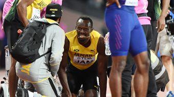 [FOTOS] La postales de la lesión que marcó el triste adiós de Usain Bolt