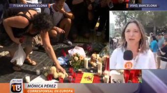 [VIDEO] Mónica Pérez desde Barcelona: así se vive el día después de los ataques terroristas