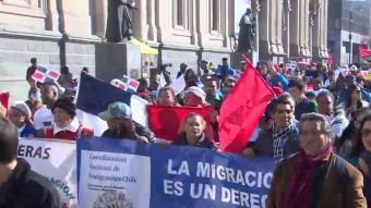 [VIDEO] Inmigrantes marcharon por Santiago