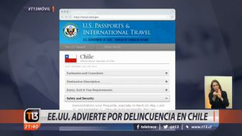 Advertencias del departamento de Estado de Estados Unidos