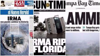 [FOTOS] Golpeada: Los diarios de Florida reaccionan al impacto del huracán Irma
