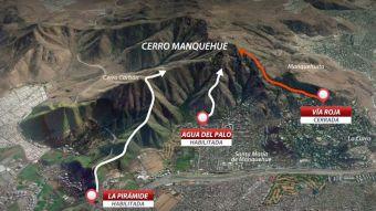 [VIDEO] Cierran vía de acceso a Cerro Manquehue