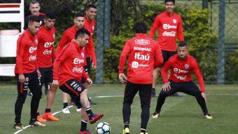 """[FOTOS] """"La Roja"""" realiza su primera práctica en Sao Paulo pensando en Brasil"""