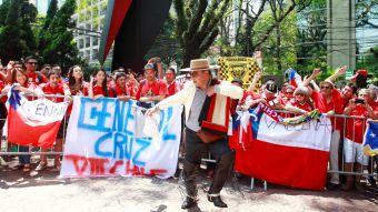 """[FOTOS] """"Marea Roja"""" tiñe las calles de Sao Paulo esperando el duelo ante Brasil"""