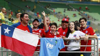 [FOTOS] El ambiente que viven los chilenos en el Allianz Parque a la espera del duelo ante Brasil