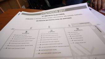 Facsímil voto elecciones parlamentarias 2017
