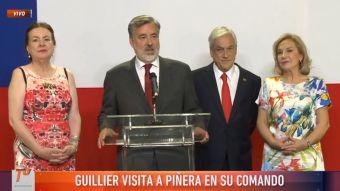 [VIDEO] Guillier visita a Piñera y asegura que será parte de una oposición constructiva