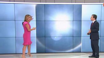 Michelle Adam explica el halo solar visto en Santiago
