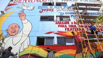 [FOTOS] Revisa las mejores imágenes del mural del Papa Francisco en Villa Francia
